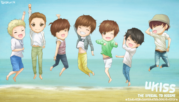 U-KISS chibi fanart by me ♥
